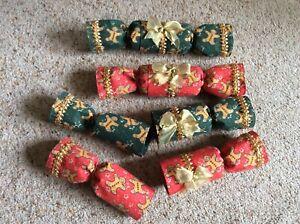 Handmade, reusable fabric Christmas Crackers (set of 4)