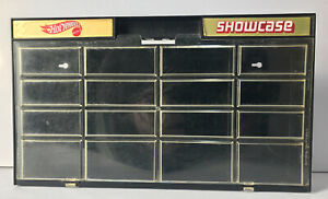 Vintage 1981 Hot Wheels Showcase Display Case, Holds 16 Cars Stand Or Hang BLACK