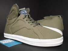 GOURMET NFN CEASE CASUAL SHOES OLIVE GREEN CREAM WHITE CANVAS NEW 9
