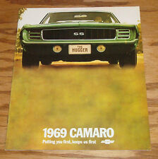 1969 Chevrolet Camaro Sales Brochure 69 Chevy Rally Sport SS