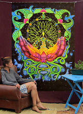 Original Painting Acrylic Artwork Yoga Religious Buddhist Canvas Ultraviolet