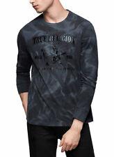True Religion Brand Jeans Men's Long Sleeve Crew Buddha Shirt Top - 103178
