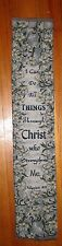 I Can Do All Things Through Christ Tapestry Bell Pull Fabric Piece