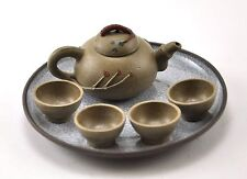 Vintage BRN Authentic Chinese YIXING Miniature Teapot cup SET Zisha Clay STAMPED