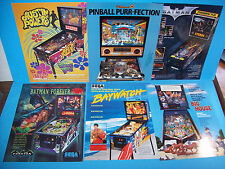Lot Of (6) ORIGINAL PINBALL MACHINE Sales FLYERS Sega Batman Forever Set  #39