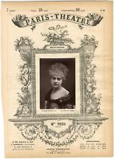 Lemercier, Paris-Théâtre, Louise Théo née Anne-Louise Picolo (1850-1922), chante
