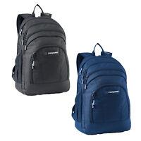 Caribee Rhine 35LT Laptop School Uni Backpack Day Pack BLACK & NAVY