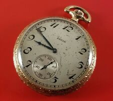 Antique Elgin Pocket Watch 15 Jewels S/N 26672698 Ca. 1908 43 mm Dia. Case