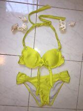Miss Cocoa Bikini Lime Green Yellow Size 10 Push-up Padded Retail $80US Sexy