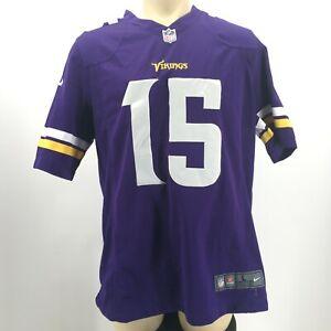Nike Mens L NFL Minnesota Vikings Jennings 15 Short Sleeve Jersey T-Shirt Purple