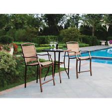 Outdoor Bistro Set 3-Piece Bar Height Table Chair Outdoor Patio Garden Furniture