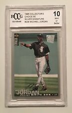 1995 Ud Collector's Choice Se Michael Jordan Silver Signature #238 Bccg 10