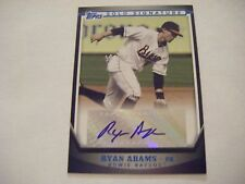 RYAN ADAMS signed ORIOLES BLUE #/199 AUTO 2011 Topps Pro Debut baseball card SSA