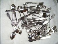 community silver silverplate LOT Fancy Silverware OVER 48 pieces SEE PIXS