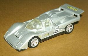 1/64 Scale 1970's Ferrari 512M Diecast Race Sports Car (Hot Wheels J3246) Grey