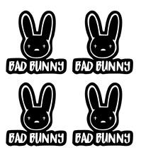 4 badbunny Sticker / decal , 4 calcomanias badbunny
