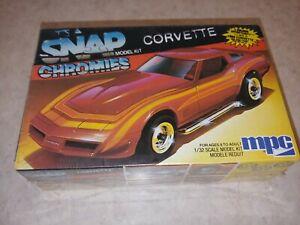 1984 MPG Snap Chromies Corvette Stingray Model Kit 6446 1/32 Sealed New