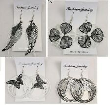 SAT1  Fashion Jewelry lots 6 pairs Black & white  Dangle color Earrings