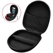 Hard Shell Carry Headphone Headset Earphone Case Bag Collector Pouch Box Black #