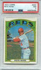 1972 Topps #559 Pete Rose PSA 7 NM Cincinnati Reds STAR FUTURE HOF??