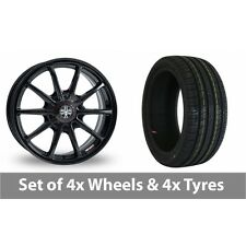 "4 x 15"" Wolfrace Pro-Lite eco 2 0 Black Alloy Wheel Rims and Tyres -  205/60/15"