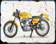 Ducati 350 Desmo 70 2 A4 Metal Sign Motorbike Vintage Aged