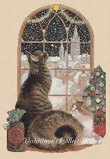 Cross Stitch Chart CHRISTMAS CATS -  No.4-402 (Large Print)