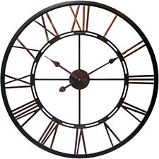 "Infiinty 28"" oil rubbed bronze weathered wall clock metal brown"