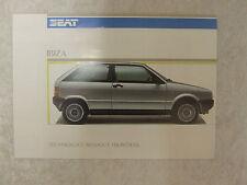 Seat Ibiza folleto 1.2 Y 1.5 le L Gl Glx 1986 2 páginas