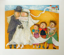 GRACIELA RODO BOULANGER- LES JEUNES MARIES -ORIGINAL LITHO SIGNED-ARCHES