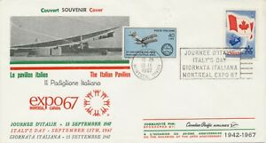 CANADA 1967 MONTREAL EXPO 1967 ITALY'S DAY Special Event Postmark TWO-COUNTRY!!!