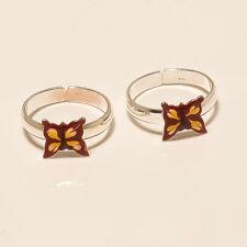925 Sterling Silver Enamel Butterfly Toe Ring Women Fine Christmas Jewelry Gifts