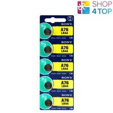 5 SONY ALKALINE LR44 A76 BATTERIES 1.5V COIN CELL BUTTON EXP 2020 NEW