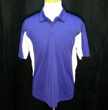 Sport Tek Mens (Size Large) Purple & White Short Sleeve Athletic Golf Polo Shirt