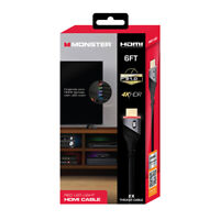 Monster inc 6' Red LED Light HDMI Cable