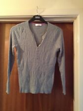 Marks and Spencers Silver Grey Long Sleeved Jumper Size 16.