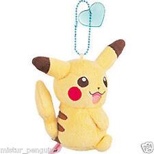 "Pokemon Go I Love Pikachu Ball-Chain 3"" Plush Doll Toy Blue Heart Keychain"