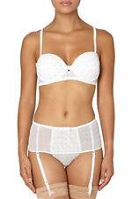 ens. soutien-gorge + shorty + porte jarretelle blanc/argenté 44/46 - 100B - neuf
