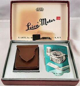 LEICA Meter Booster Cell Amplifier Incident Light with Case & Orig Box Leitz NR