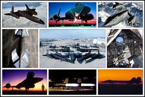 USAF SR-71 Blackbird Aircraft Photo Collage #1 8x12 Photo
