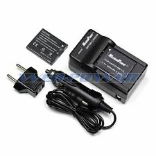 2x Camera Batteries + USB Wall/Car Charger Pack For Canon NB-11L PowerShot A2300