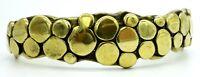 Carl Tasha Signed Modernist Vintage Bubble Brass Bracelet Cuff Provincetown