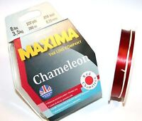 Maxima Red Mono 600 Metre (660yds) Fishing Line Maxi Spools From 12-25lb