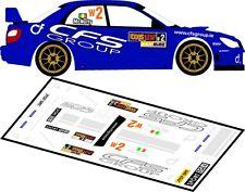 DECALS 1/43 SUBARU IMPREZA WRC - #2 - McNULTY - RALLYE ULSTER 2011 - D43113