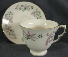 Colclough Bone China Footed Tea Cup & Saucer Set #8366 Wentworth Ridgway England