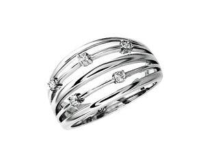 Diamant Ring 18 Karat 750er Weißgold 0,11 Karat Brillanten Neu