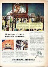 1951 GM General Motors Modern Chemistry Car Building Print Ad