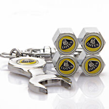 Universal Car Wheel Tire Valve Cap Tyre Dust Cover Wrench Keychain For Lotus