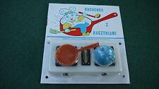 DDR Kinderspielzeug Herd Plaste Spielzeug Kochen Geschirr orange blau  OVP