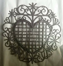 Metal Heart Handmade in Haiti Voodoo Art Erzulie Metal Wall Decor Ideas Deco 15""